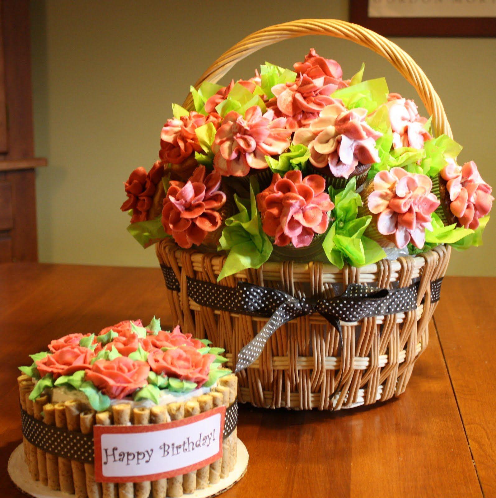 Cupcake bouquet Flower cupcake cake, Cupcake