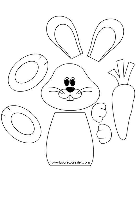 Sagoma Coniglio Sagome Utili Per Realizzare Un Coniglio Con La