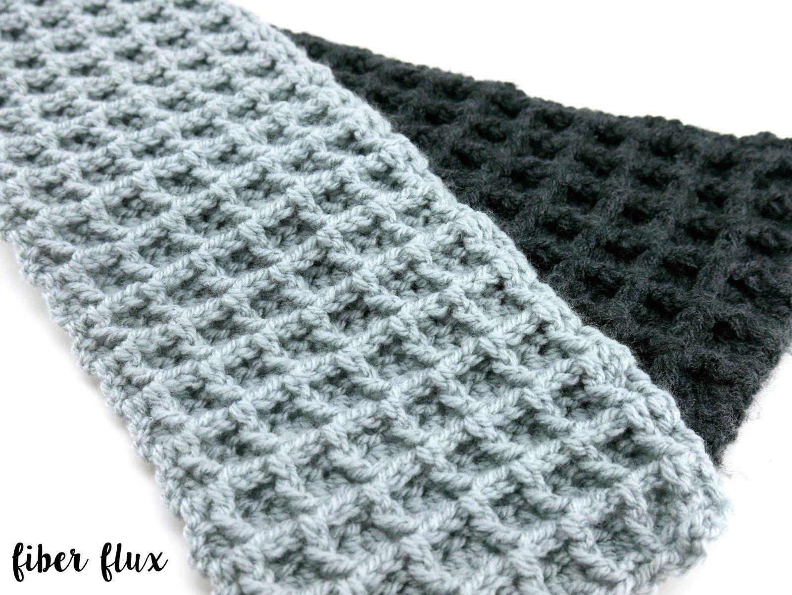 Free Crochet Patterno Tone Waffle Stitch Scarf With A Hook