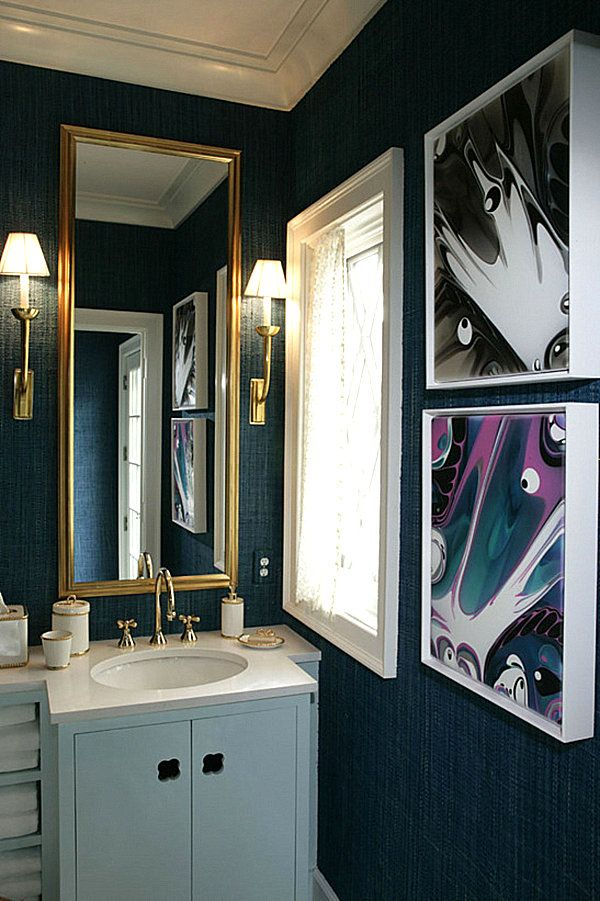 Dazzling Jewel Toned Decor Blue Bathroom Decor Navy Blue