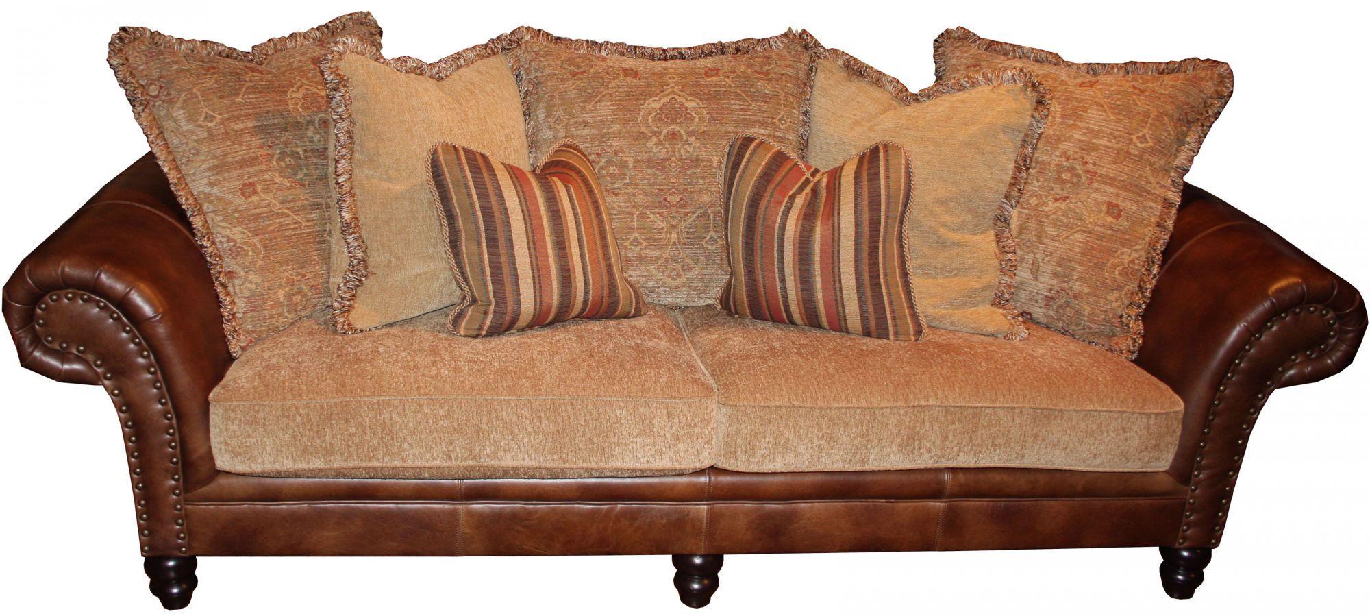 Bernhardt Barringer Leather/Fabric Sofa | Comforts of Home ...