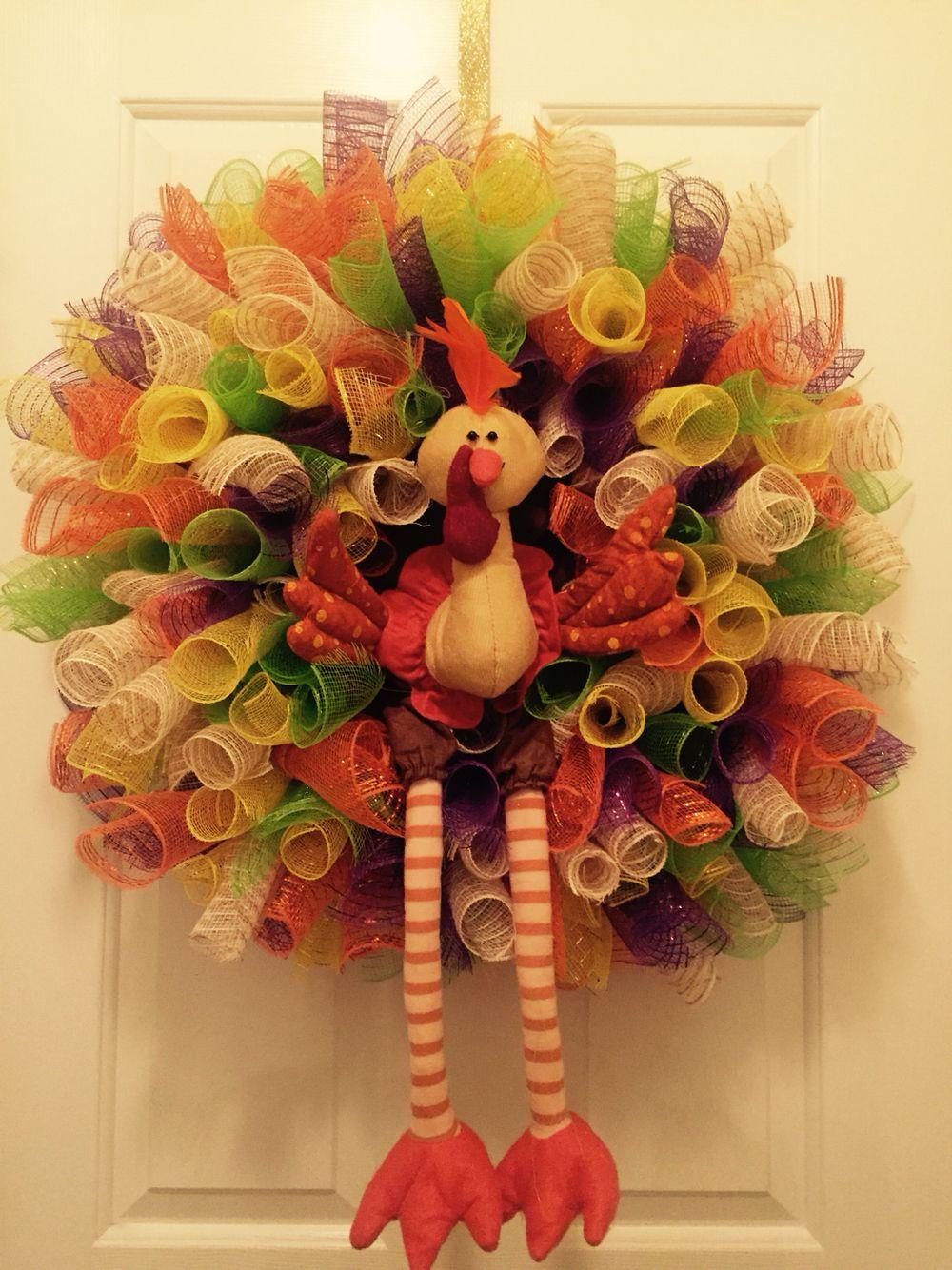 Suzie's Creations ..... Thanksgiving Turkey Wreath
