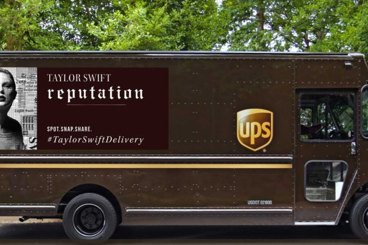 Look at what Taylor Swift made UPS do. The shipping company is plastering the star's face on the side of a select fleet of its trucks in celebration of a deal that makes UPS the official delivery partner for Swift's upcoming Reputation album. SEE ALSO: Old Taylor Swift is dead. May New Taylor