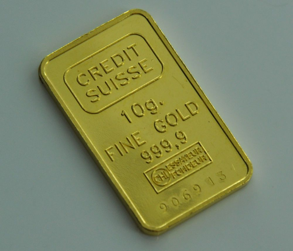 Credit Suisse 10 Grams 999 9 Fine Gold Bar Credit Suisse Gold Bullion Bars Gold Bar