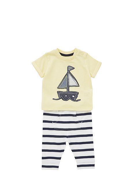 Tesco Direct F F Nautical T Shirt And Joggers Set Quarto Bebe