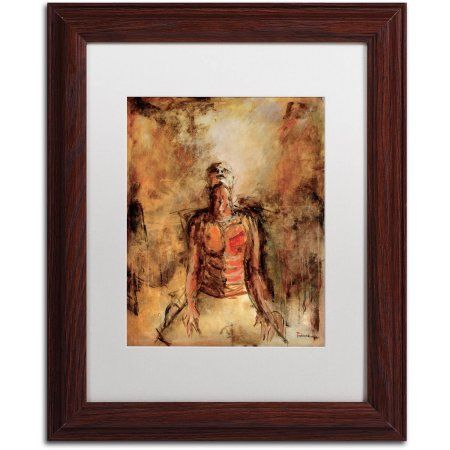 Trademark Fine Art Totally Surrender Canvas Art by Joarez, White Matte, Wood Frame, Size: 11 x 14, Brown
