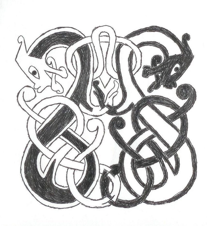 Norse knots by ~vicskywalker | historical embroidery | Pinterest ...