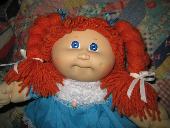 Vintage Cabbage Patch Kid Doll Ginger Red Hair Girl Etsy Cabbage Patch Dolls Cabbage Patch Kids Cabbage Patch Kids Dolls