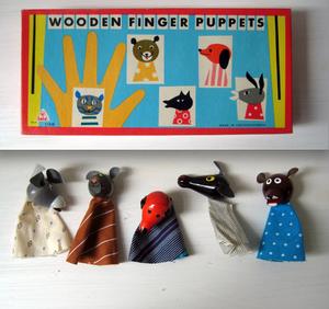 wooden finger puppets!