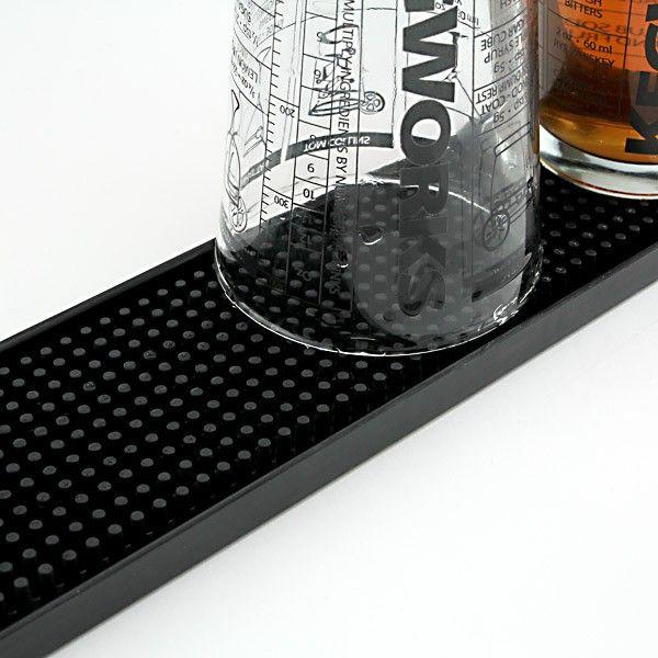 Merveilleux Rubber Bar Service Spill Mat   Black