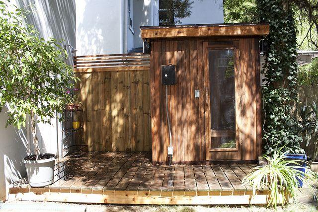 Cedar Sauna Deck Outdoor Shower Hot Tub Outdoor Outdoor Sauna Outdoor Shower