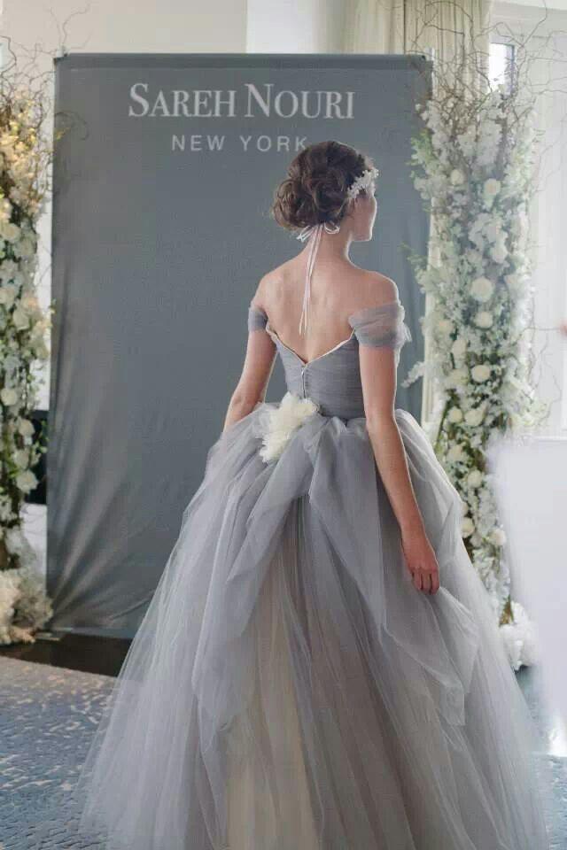 Pin By Middleclassmayhemmomma On Weddings Grey Wedding Dress Wedding Dresses Whimsical Wedding Dresses