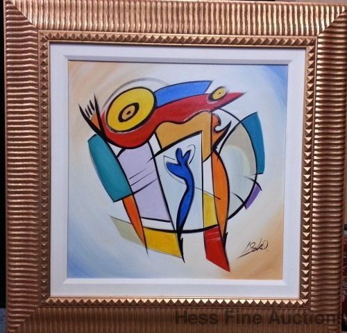 Alfred Gockel Lg Orig Abstract Painting Ethereal Vision 2005 Park West Coa #Abstract
