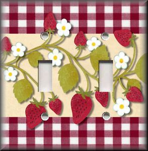 Strawberry Design Vintage Tin Vintage Country Decor Farmhouse Decor Red And White Tin With Yellow Red Flower
