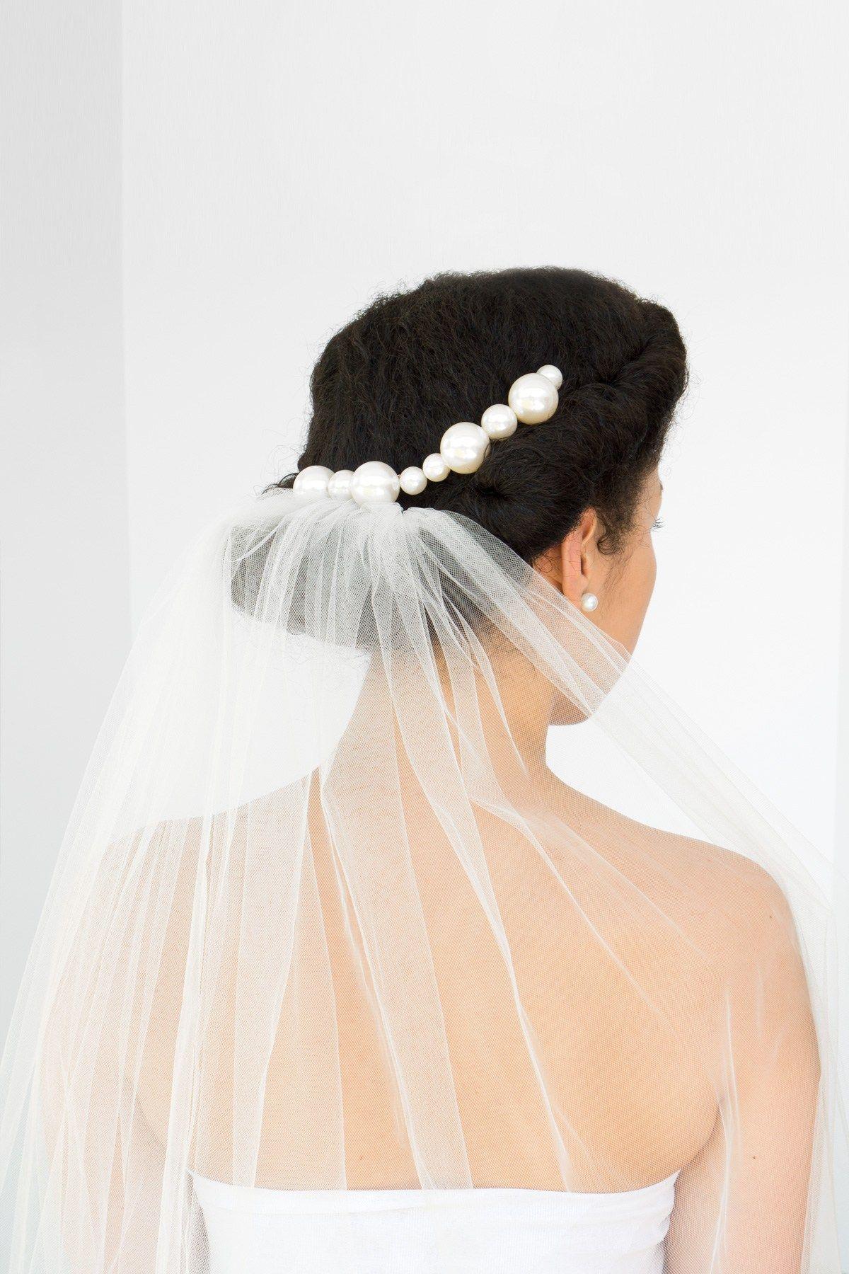 Curls and Pearls Natural Wedding Updo AKA The Modern Mermaid | Updo ...