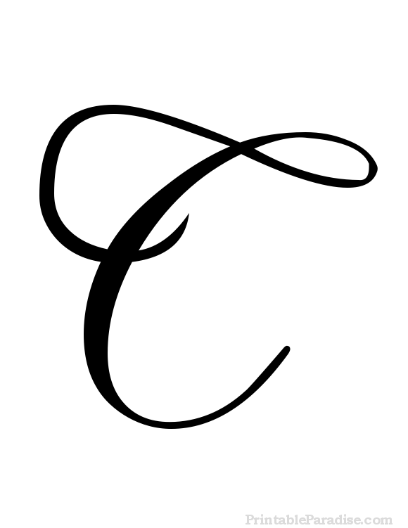 Printable Letter C in Cursive Writing | quote boards ...