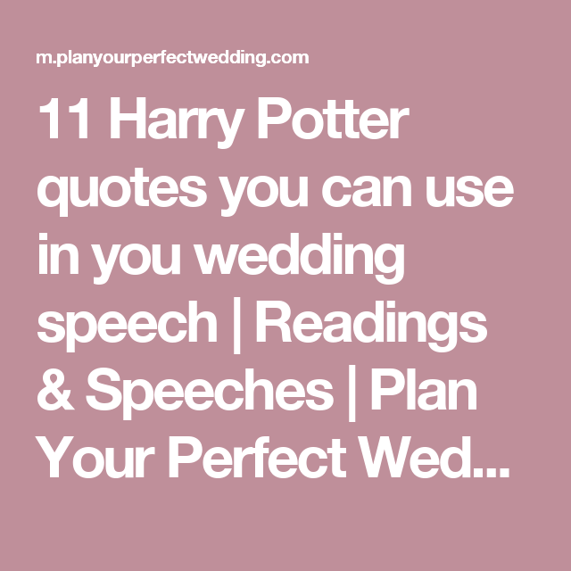 11 Harry Potter Love Quotes That Make Magical Wedding Readings
