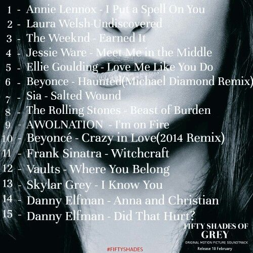 Fifty Shades of Grey Original Motion Picture Soundtrack. Release February 10, 2015. Fifty Shades of Grey| In Valentine's Day.