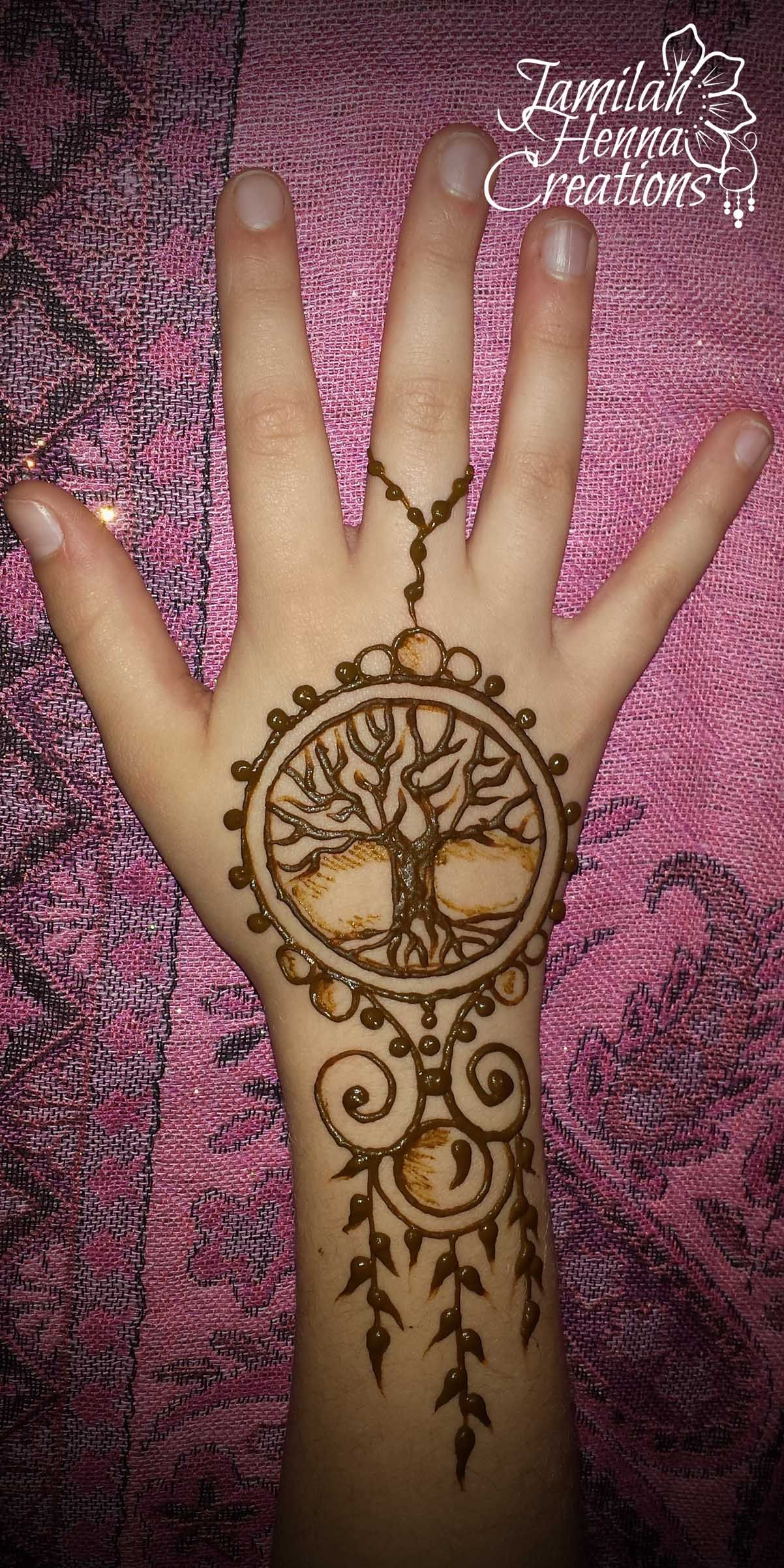 Henna Mehndi Tattoo Designs Idea For Wrist: Tree Of Life Henna Jewelry Www.jamilahhennacreations.com