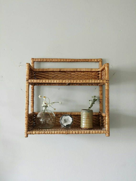 Wicker Shelf Wall Shelves Wicker Shelves Rattan Shelf Rattan Shelves Hanging Shelves Bathroom Shelves Bathr Wicker Furniture Wicker Bedroom Bathroom Shelf Unit