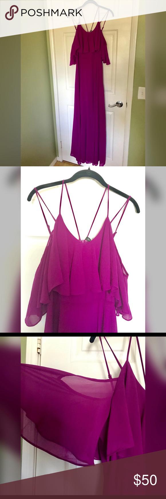 Fuschia Maxi Dress Gorgeous Dresses Maxi Dress Shoulder Dress [ 1740 x 580 Pixel ]