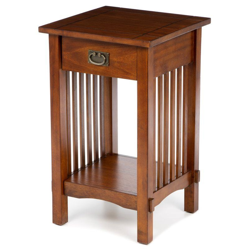 Haylie Wooden End Table Mission Style End Tables Wood End Tables End Tables With Storage