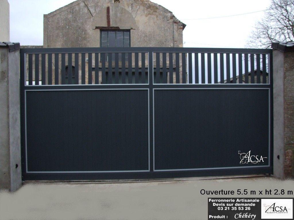 taille portail coulissant prix duun portail coulissant with taille portail coulissant portail. Black Bedroom Furniture Sets. Home Design Ideas