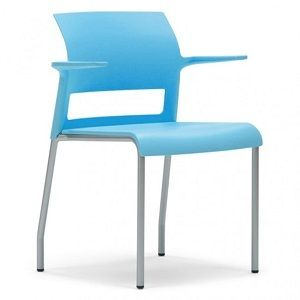 Steelcase Move chairs are guest chairs that also stack. Live dynamic seat, open cantilever arm design, light weight, and strength make Move a logical choice for multipurpose areas. Move's simple design complements a broad range of work settings.