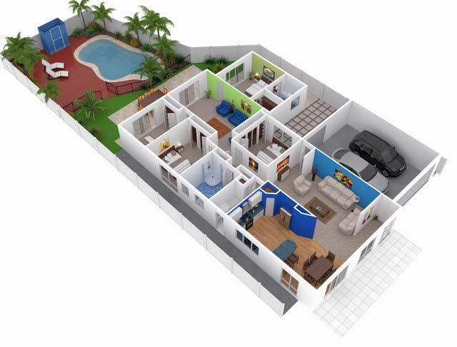 Modern House Plan 2014002 Pinoy House Plans 3d Floor Plan Modern Mansion Diy House Plans Floor Plans