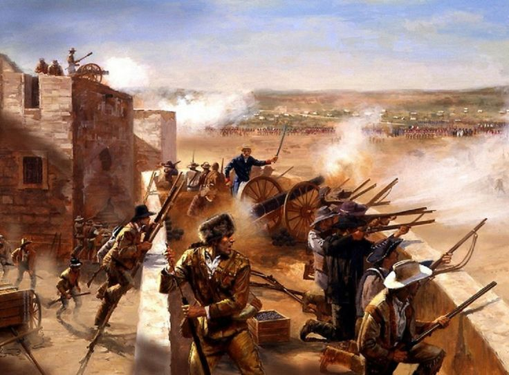 26 February 1836 - Battle of the Alamo - During the first week of the siege  | Mexican american war, Alamo, Texas revolution