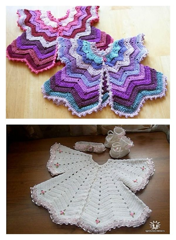 Baby Chevron Cardigan Free Crochet Pattern and Video Tutorial ...