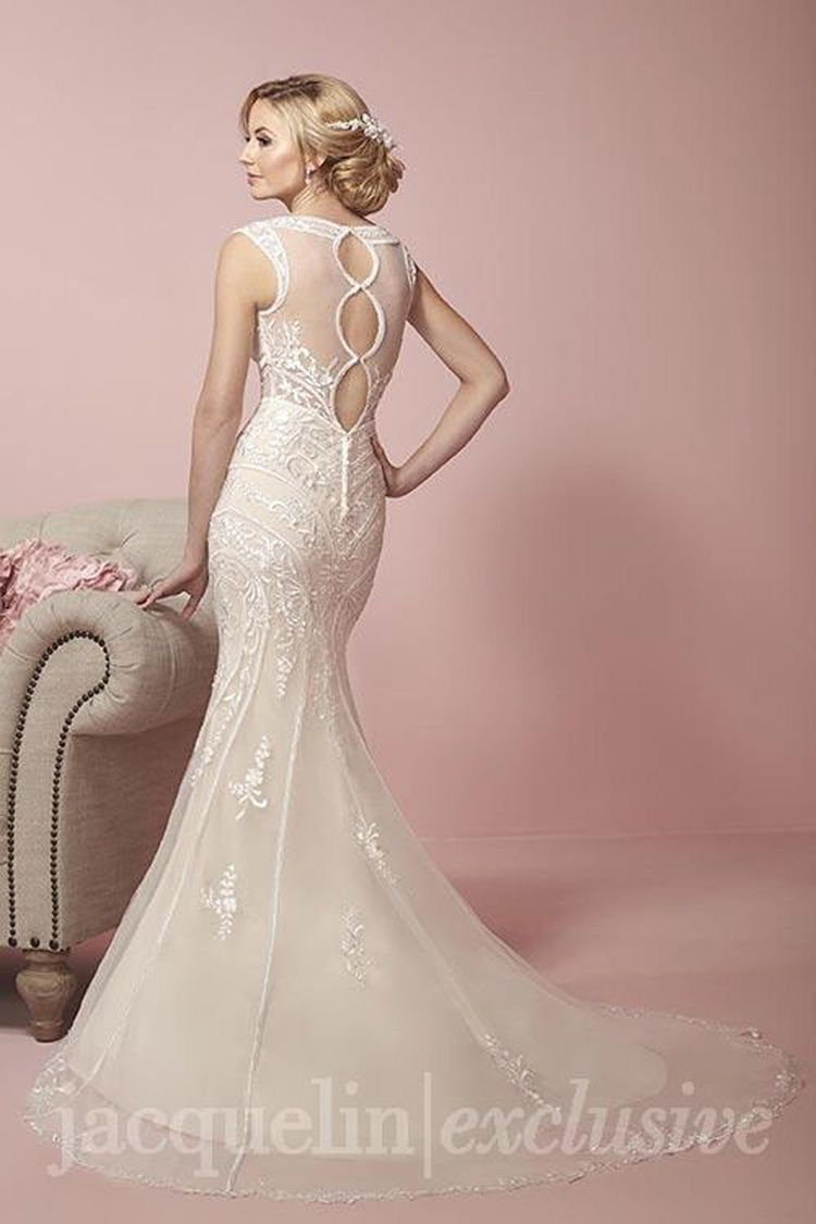 Jacquelin Exclusive $750 Size: 14 | Sample Wedding Dresses | Fancy ...