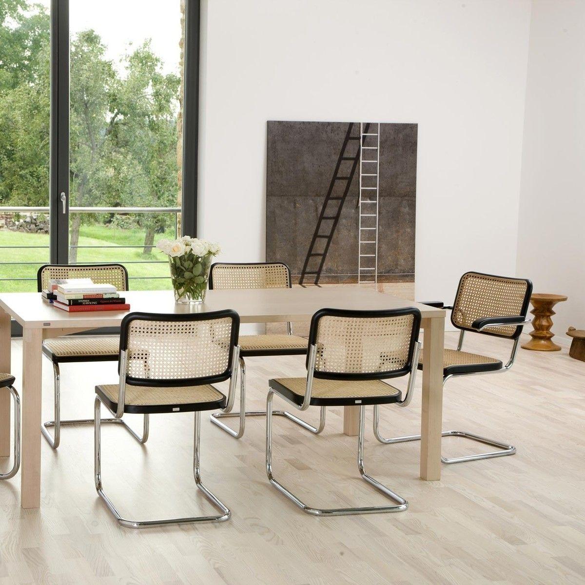 Thonet S 32 V Freischwinger Stuhl Mit Rohrgeflecht Dining Chairs Cesca Chair Home Decor