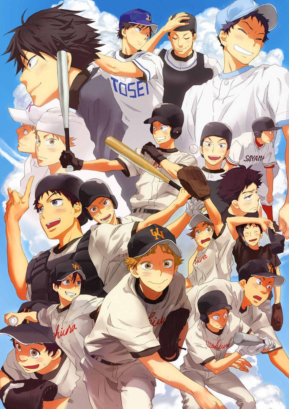 Ookiku Furikabutte Review Anime, Baseball anime, Kawaii