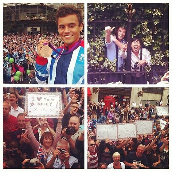 Tom Daley at and after London 2012 Olympics http://www.london2012updates.blogspot.com