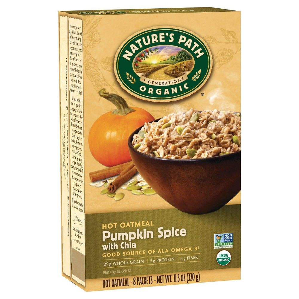 Nature's Path Organic Pumpkin Spice With Chia Hot Oatmeal