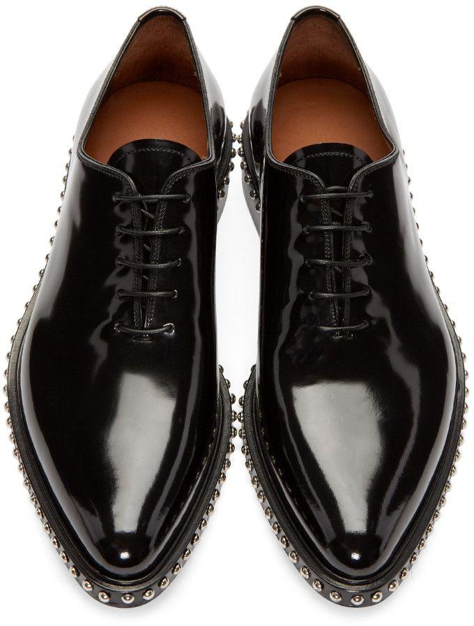 Givenchy - Black Studded Oxfords  9c281c637a0