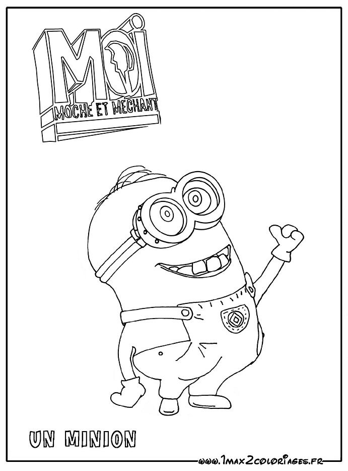 Coloring Book Minions : Free minion coloring pages the coloring pages minions