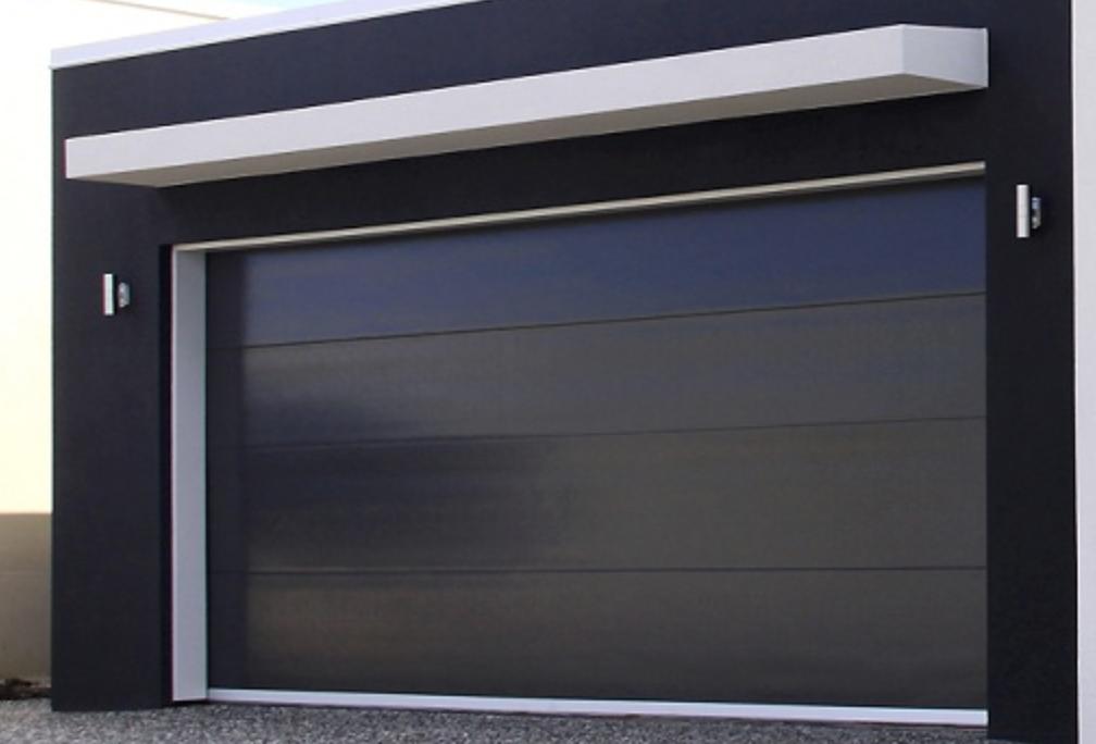 Black Modern Insulated Panel. Moderne GaragentoreIsolierte Platten