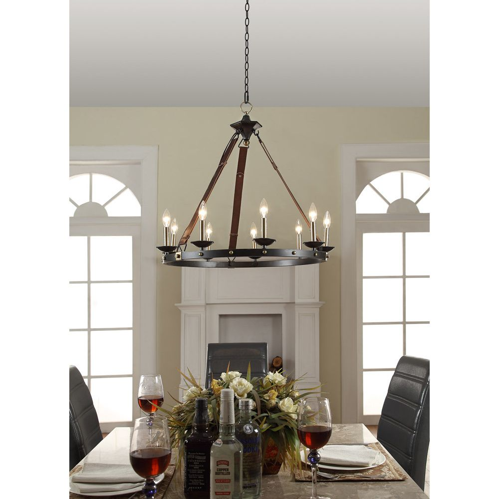Cavalier 9 light black chandelier aesthetics shopping for Black dining room chandelier