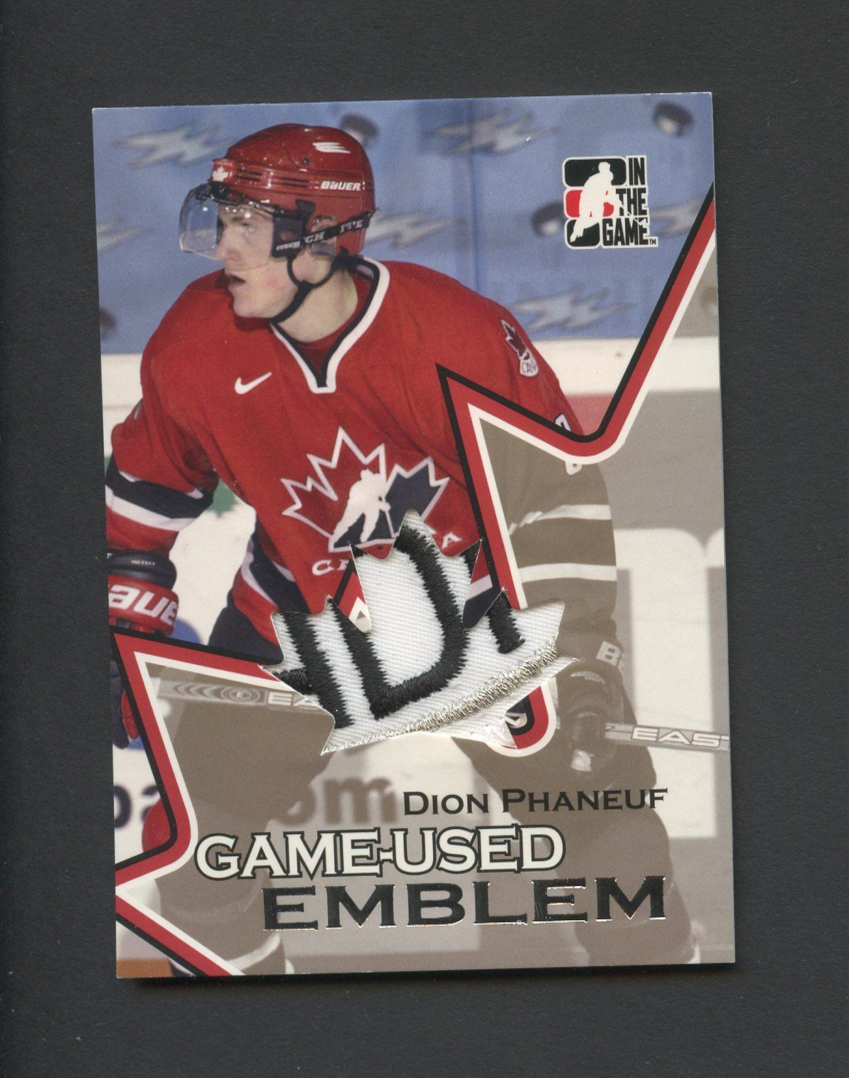 2006 07 Dion Phaneuf ITG Going For Gold World Junior Championships
