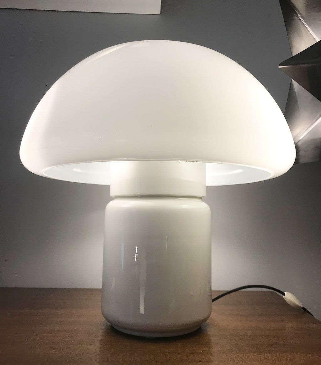 On Instagram Sold Vendu The Mushroom Table Lamp Designed By Elio Martinelli For Martinelli Luce 1970 In 2020 Table Lamp Design Lamp Design Lamp