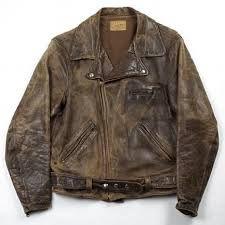 antique leather jacket -
