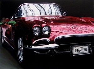 Photo Realistic Muscle Car Paintings By Cheryl Kelley Car