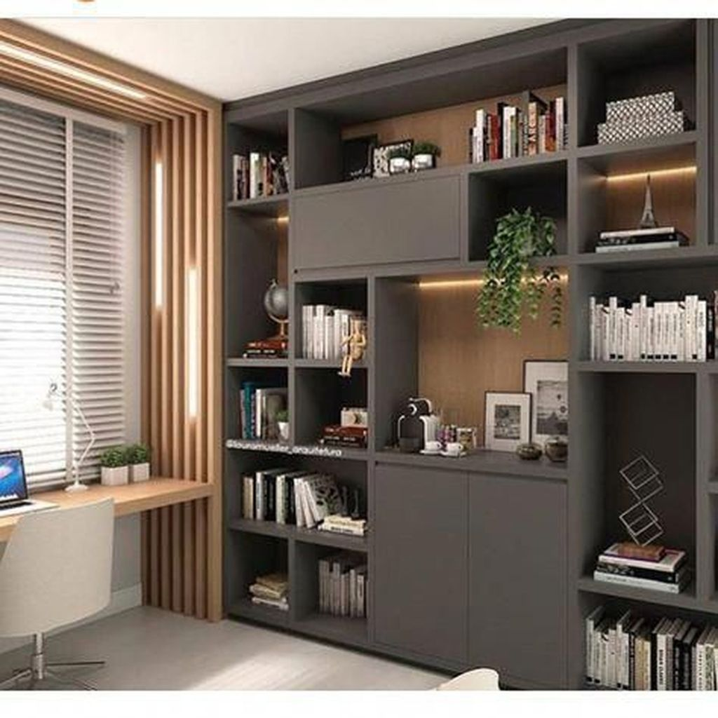 30 Admirable Modern Home Office Design Ideas That You Like Pimphomee Modern Home Offices Office Interior Design Small Home Offices