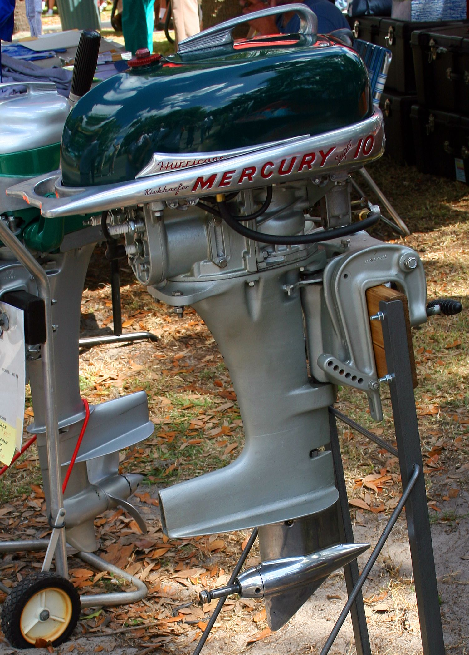Vintage Mercury 10 HP Outboard, On Stand, 3/24/2007