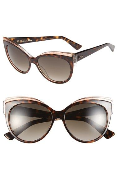 9164142f8d85c Dior  Glisten 1  56mm Cat Eye Sunglasses available at  Nordstrom ...