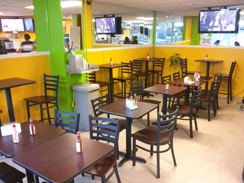 High Quality Restaurant Furniture. Net Metal Ladder Back Chairs And Bar Stools In  Tropical Juice Bar Http
