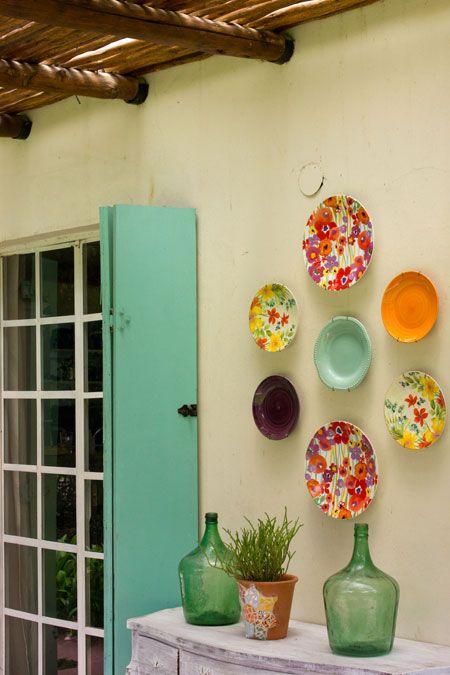 Platos decorativos de pared excellent azul placa de - Platos decorativos modernos ...