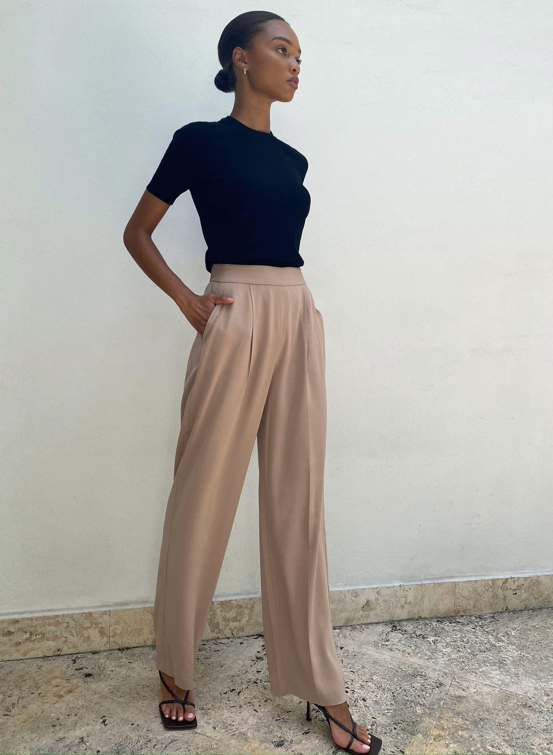 Wide Leg Pant Outfit Wide Leg Dress Pants Wide Leg Leggings [ 2623 x 1920 Pixel ]